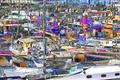 Картинка стоянка, рендеринг, лодка, яхта, бухта