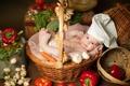 Картинка лежит, ребёнок, дети, малыш, поварёнок, овощи, Анна Леванкова, корзины, баранки, грибы