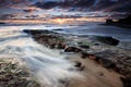 Картинка Берег, камни, вода, облака, отлив