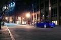 Картинка ночь, синий, город, Audi, ауди, blue, coupe