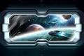 Картинка космос, иллюминатор, космические корабли