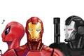Картинка Deadpool, Iron Man, Wade Wilson, Marvel, Дэдпул