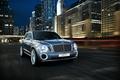 Картинка город, фото, голубой, Bentley, автомобиль, 2012, спереди, EXP 9 F, роскошный