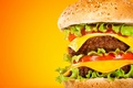 Картинка еда, сыр, котлета, салат, Big Mak