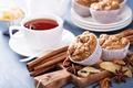 Картинка чай, еда, орехи, корица, выпечка, мармелад, кексы, анис