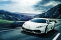 Картинка Lamborghini, Front, Mountain, White, Road, Supercar, Huracan, LP640-4