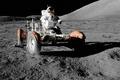 Картинка луна, лунный автомобиль, космонавт, nasa, космос, обои