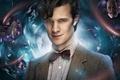 Картинка взгляд, твидовый пиджак, рубашка, воронка, лицо, BBC, мужчина, галстук-бабочка, Doctor Who, Одиннадцатый Доктор, Мэтт Смит, ...