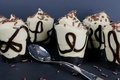 Картинка шоколад, стаканы, крем, десерт, сладкое