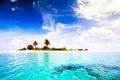 Картинка пальмы, paradise, тропики, остров, океан, Мальдивы, Maldives