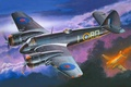 Картинка война, тяжёлый, арт, ночной, истребитель, самолёт, авиация, Бристоль Бофайтер, Bristol Beaufighter