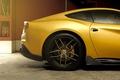 Картинка ferrari, dmc, f12, berlinetta, yellow gold