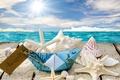 Картинка beach, seashells, sunshine, пляж, sea, море, ракушки, starfishes, солнце, звезды