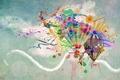Картинка Брызги, цвет, шары