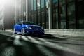 Картинка Lexus, City, Car, Blue, Front, Street, Sport, Road, ISF