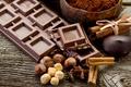 Картинка орехи, корица, шоколад