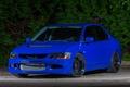 Картинка Lancer, Evolution, Night, Blue, Mitsubishi