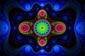 Картинка цвет, фрактал, свет, полумрак, симметрия, узор