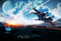 Картинка star wars, Крестокрыл, X-wing, sky, planet