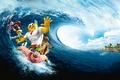 Картинка The SpongeBob Movie, Sponge Out of Water, волна, The SpongeBob Movie: Sponge Out of Water, ...