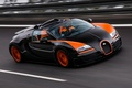 Картинка Grand Sport, Бугатти, Vitesse, суперкар, Veyron, 16.4, Bugatti, Вейрон, гиперкар, передок, гоночный трек, World Record ...