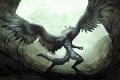 Картинка волк, крылья, Фантастика