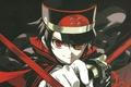 Картинка военная форма, Yuuichirou Hyakuya, Seraph of the End, плащ, Последний Серафим, красные глаза, катана, Owari ...