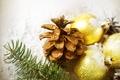 Картинка праздник, новый год, new year, шишка, елочные шары