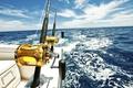 Картинка море, рыбалка, яхта, удочки, ocean fishing reels