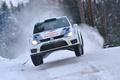 Картинка Volkswagen, Передок, Белый, Rally, Зима, Гонка, Ралли, Машина, Лого, Фары, Авто, Капот, WRC, Скорость, Polo, ...
