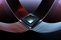 Картинка процессор, Intel Core, подсоединение, бренд