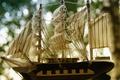 Картинка цвет, Корабль, статуетка, паруса