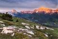 Картинка закат, горы, природа, камни