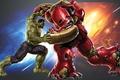 Картинка молнии, халкбастер, мстители, iron-man, Hulkbuster, мощь, Тони Старк, огонь, красный, Железный человек, зеленый, Халк, сила, ...