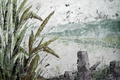 Картинка картина, живопись, озеро, пейзаж