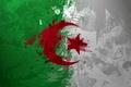 Картинка Algeria, Алжир, краски, флаг