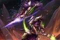 Картинка битва, жезл, магия, горы, starcraft 2