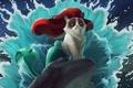 Картинка русалочка, мультфильм, кот