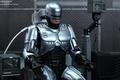 Картинка киборг, железо, подзарядка, броня, герой, полицейский, сидит, робот, Robocop