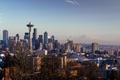 Картинка park, America, United States Of America, skyscrapers, mountain, Washington, United States, Seattle, skyline, buildings, view, ...