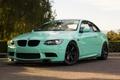 Картинка volk, tuning, germany, bmw, бмв, wheels, e92, power, green, turbo, toyo