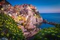 Картинка Италия, дома, берег, Parco nazionale delle Cinque Terre, город, здания, Лигурийское море, пейзаж, скалы, Manarola, ...