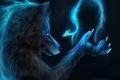 Картинка волк, оборотень, фентези, магия