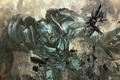 Картинка anime, crossover, Black Rock Shooter, Transformers, Megatron, art, Decepticon