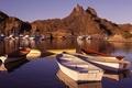 Картинка лодки, катера, вода, горы