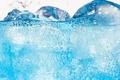 Картинка синий, вода, summer, fresh, пузырки, ice