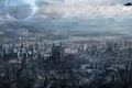 Картинка город, будущее, транспорт, арт, мегаполис, cloudminedesign