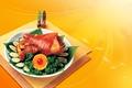 Картинка петрушка, мясо, Огурцы, апельсин