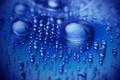 Картинка Капли, синий, вода