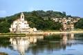 Картинка фото, Дома, Город, Река, Собор, Храм, Испания, Монастырь, Barru